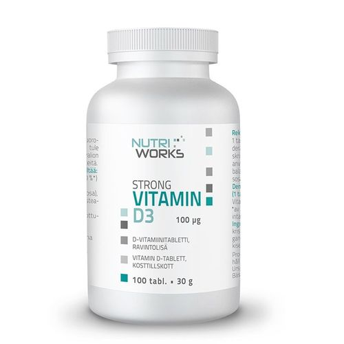 Nutri Works Strong Vitamin D3. 100 tabl.