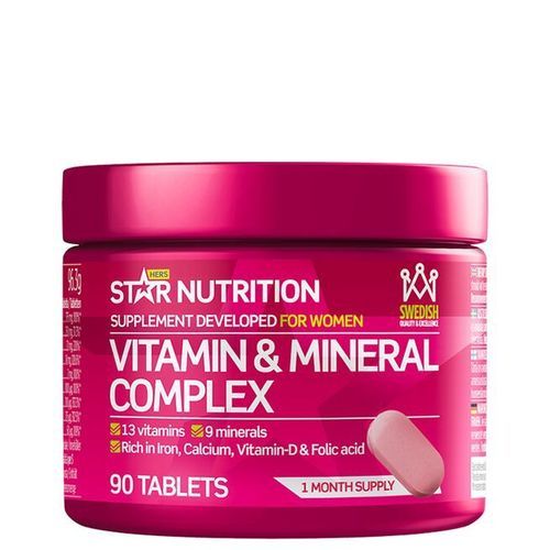 Star Nutrition Vitamins & Minerals Complex 90caps